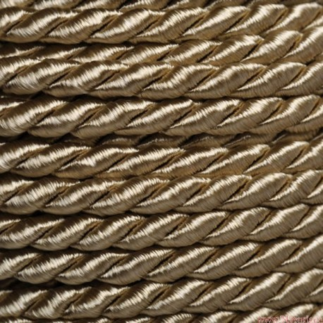 Sznurek skręcany 3,2mm 1mb - STARE ZŁOTO (SS-15)